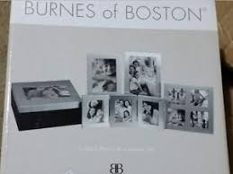 burnes of boston 5 photo box frame and album set silver ebay