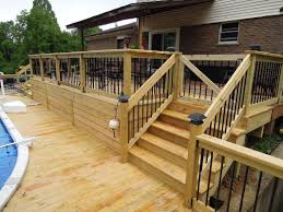 treated lumber swimming pool deck cincinnati oh area