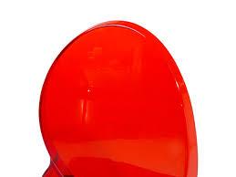 Chaises De Cuisine Rouge by Chaise Design Chaise En Plastique Transparent Rouge Chaise De