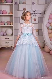 first communion dresses for little girls 2017 new with peplum and