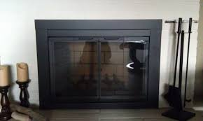 Fireplace Screen Doors Home Depot by Pleasant Hearth Ascot Small Glass Fireplace Doors At 1000 At The