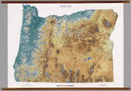 Raven Maps Oregon Geography Map Oregon Map Physical Map Of Oregon Political