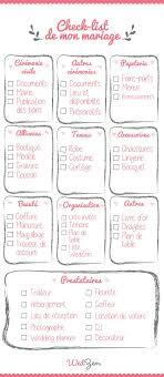 preparatif mariage une liste a toujours avoir sur soit la check list mariage de