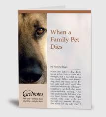 when a pet dies carenotes