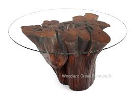 tree trunk dining table stump table log table tree base table rustic furniture