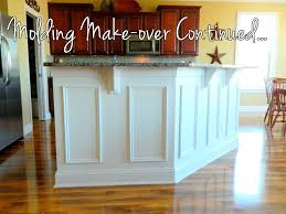 pickle posey molding make over update our finished kitchen island