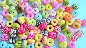 miniature polymer clay donut supplies for dollhouse polymer clay