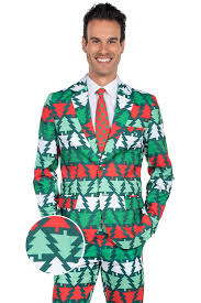 christmas suit men s green christmas tree suit tipsy elves