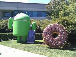 android statues googlers move statues of android dessert items around their