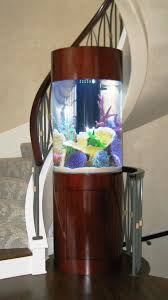 creative idea interior decor with l shaped clear glass fish tank