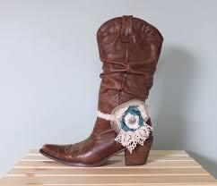 boot bracelet cowboy boot decoration boot decor crochet ruffled