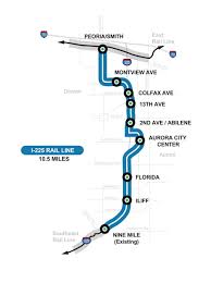 denver light rail expansion map rtd board approves proposal from kiewit to finish i 225 light rail line
