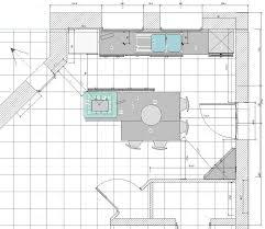 plan de cuisine avec ilot central dimension cuisine avec ilot central cuisine en image