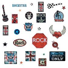roommates rmk1563scs boys rock n roll peel and stick wall decals