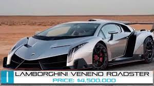 top lamborghini cars lamborghini veneno roadster top 5 most expensive cars in the