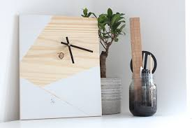 how to make a diy geometric wooden clock the crafty gentleman