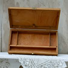 vintage wooden artist sketch box or supply box wooden paint