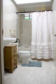 Ruffled Shower Curtain How To Choose Decorative Shower Curtains For Bathrooms Artenzo