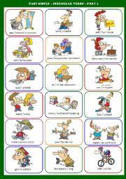 english exercises simple past irregular verbs activity