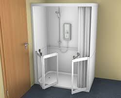 Shower Folding Doors Contour Cubicle Shower Enclosure Option 1 Single And Bi