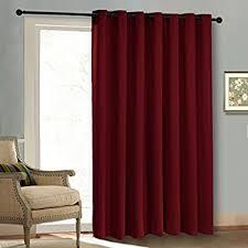 Grommet Drapes Patio Door Amazon Com Blackout Patio Door Curtain Panel Christmas Curtain