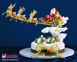 santas in town christmas cake online cake decorating tutorials