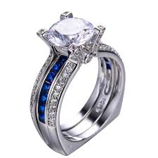 vintage wedding ring sets blue sapphire vintage wedding ring set flaming cherries