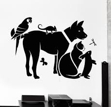 Vinyl Wall Decals by Vinyl Wall Decal Zoo Shop Animals Veterinary Clinic Veterinarian