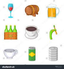 cartoon beer no background draft beer icons set cartoon set stock vector 733371850 shutterstock