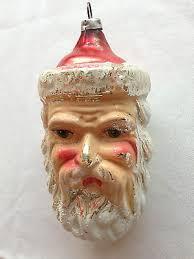 vintage glass santa ornament pinteres