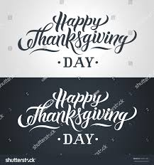 happy thanksgiving in espanol happy thanksgiving day handlettering text handmade stock vector