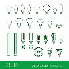 common light bulb types bulbs shapes and applications stock vector illustration of