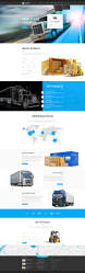 transportation template truck website template gridgum