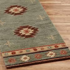 rug runners quentin orange cotton rug runner washable nonskid