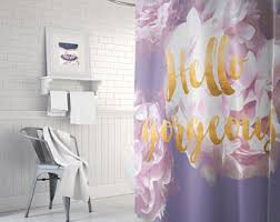 Shower Curtains Purple Gold Shower Curtain Etsy