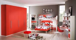 cool kids room decorating ideas custom home design kids bedroom awesome boys bedroom decoration idea with red wardrone red white bunk bed and gray