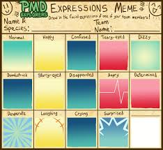 Expressions Meme - pmd explorers expressions meme template by galactic rainbow on