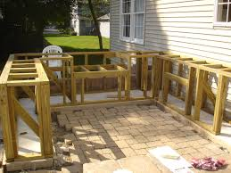 Outdoor Bars Furniture For Patios An Outdoor Kitchen With Granite Countertops Compliment This