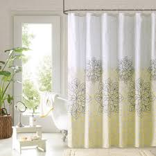 White Shower Curtains Fabric White And Yellow Shower Curtain Madison Park Saratoga Shower