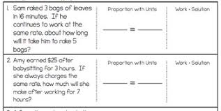 proportions word problem worksheet freebie by math on the move