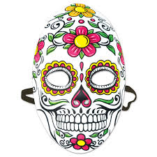 day of the dead masks 12ct beistle day of the dead mask bulk party supplies