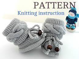 knitting p a t t e r n baby booties baby shoes knitted baby