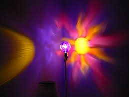 sun moon star purple painted moodlight bulb night light dorm