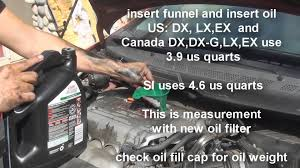 how to change oil honda civic 2006 2007 2008 2009 2010 2011 youtube