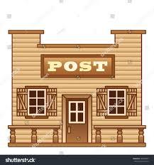 wild west post office stock vector 146260757 shutterstock