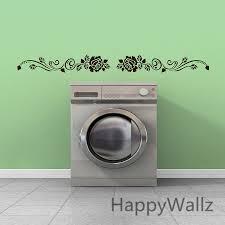 Laundry Room Border - aliexpress com buy rose flower wall sticker rose wall decal diy