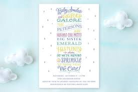 sprinkle shower sprinkle stack baby shower invitations by bo minted
