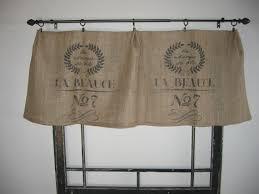 Feed Sack Curtains Feed Grain Sack Bag Burlap Valance Curtain Panel