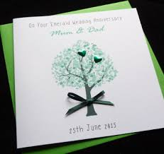 55th wedding anniversary anniversary handmade cards