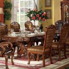 acme united dresden cherry oak decorative traditional formal 9pcs